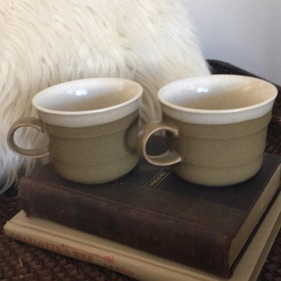 2 Vintage Boho Coffee Cups